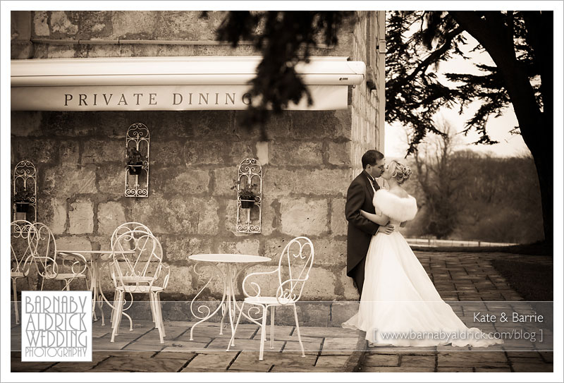 Kate & Barrie Hazlewood Castle Winter Wedding Photography by Barnaby Aldrick