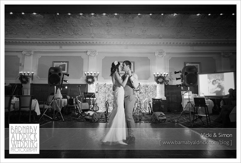 Vicki & Simon at The Old Swan, Harrogate Winter Wedding Photography by Barnaby Aldrick