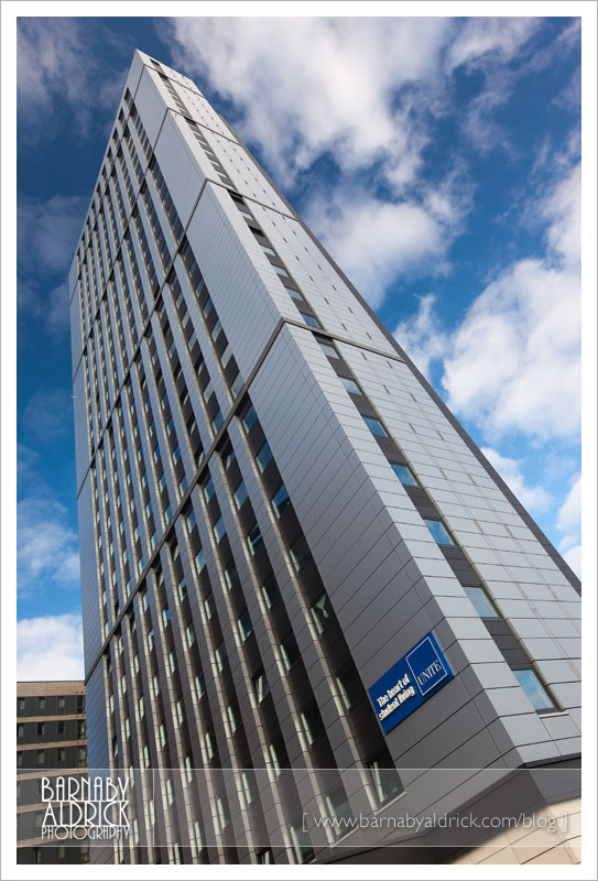 Sky Plaza Student Flats - Leeds Guide photography by Barnaby Aldrick