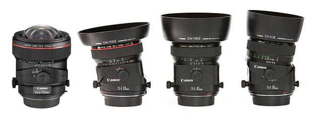 Canon tilt shift lenses