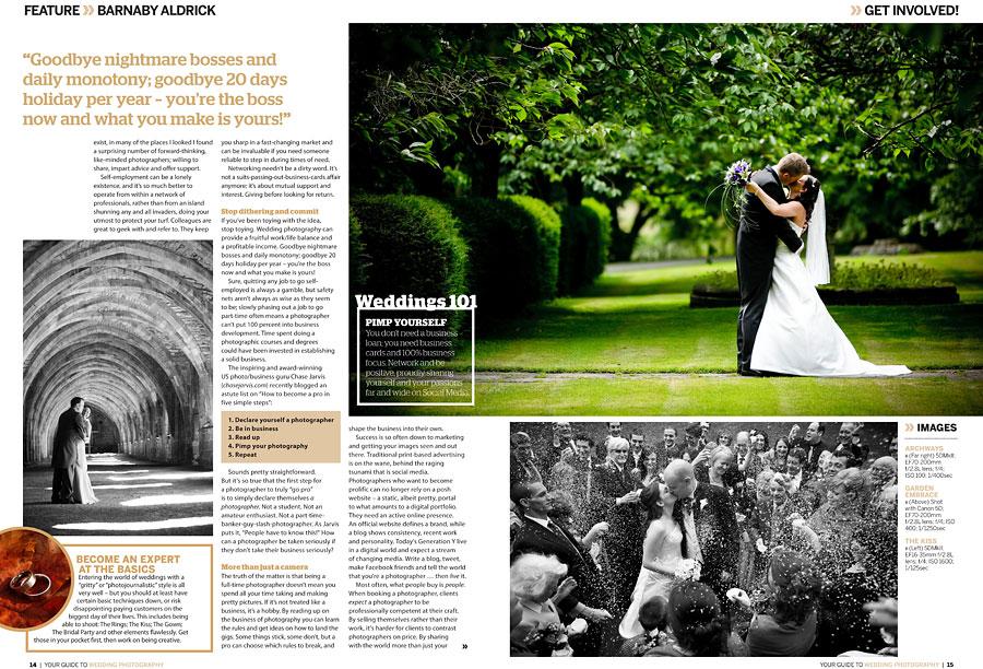 Digital Photography Magazine Wedding Photography Feature