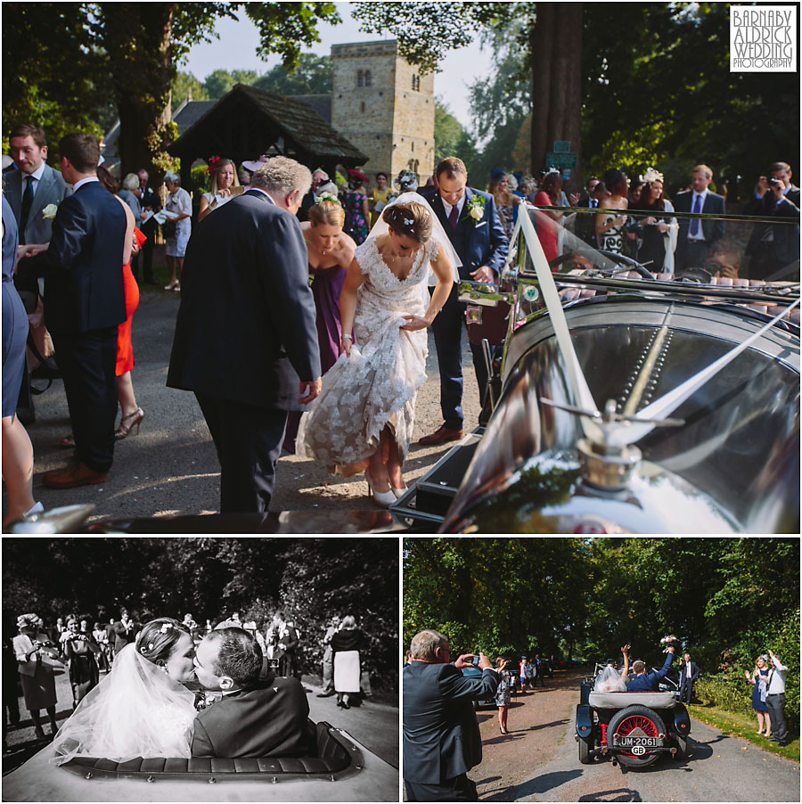 Middleton Lodge Wedding Photography,Yorkshire Wedding Photographer Barnaby Aldrick,Middleton Lodge Richmond,Richmond Wedding Photography,vintage car wedding,