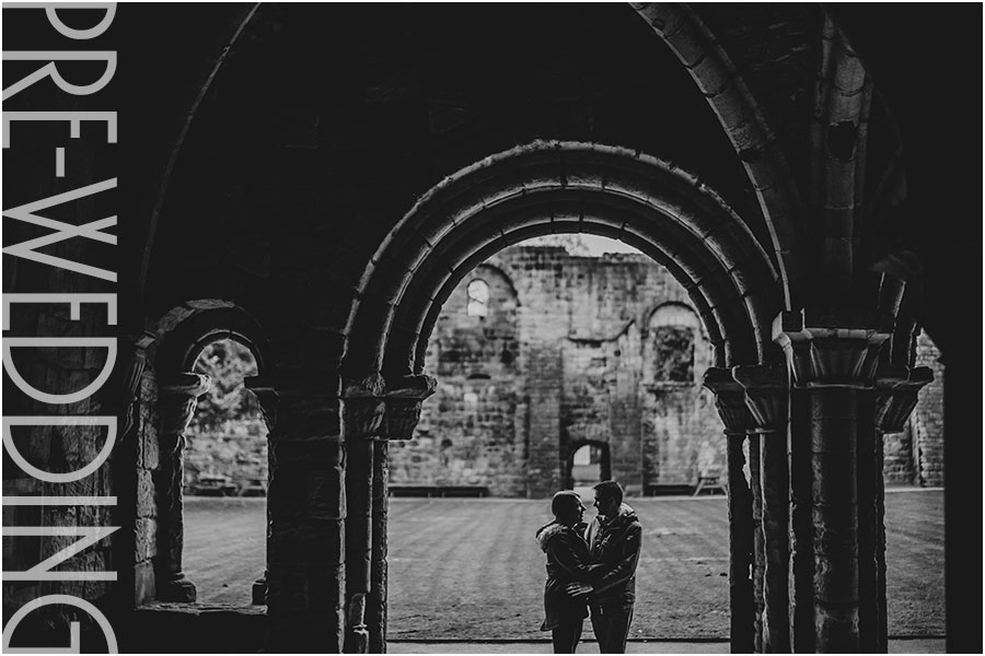 Pre-wedding photography at Kirkstall Abbey, Leeds