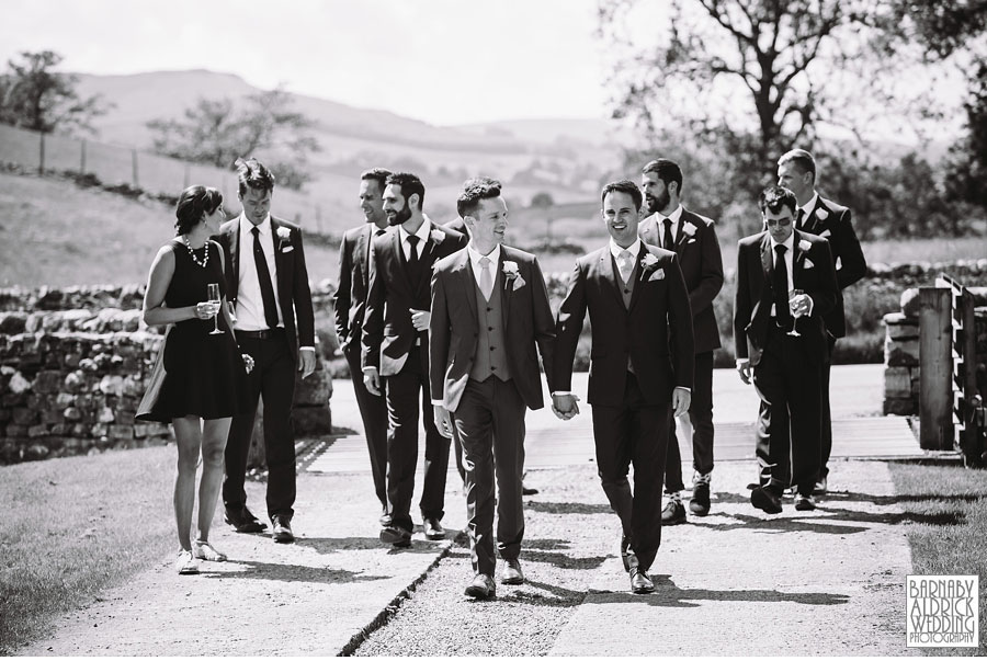 Yorebridge House Gay Wedding Photography by Yorkshire Wedding Photographer Barnaby Aldrick 025