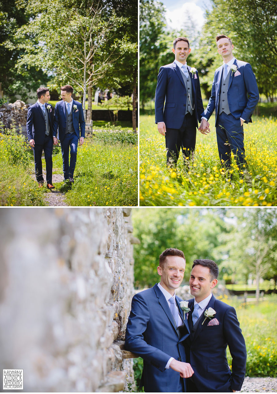 Yorebridge House Gay Wedding Photography by Yorkshire Wedding Photographer Barnaby Aldrick 028