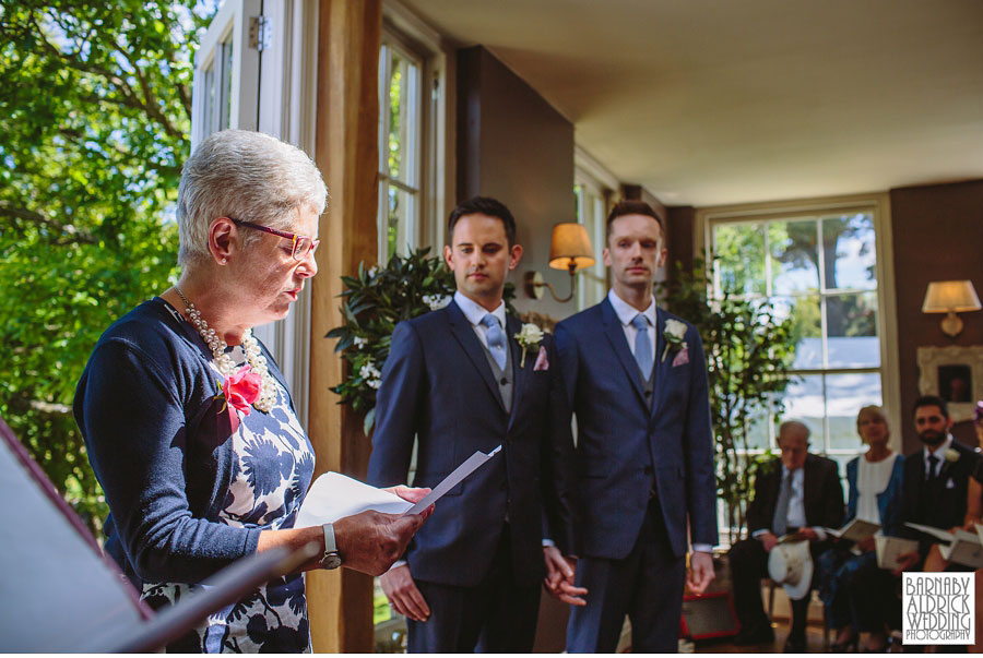 Yorebridge House Gay Wedding Photography by Yorkshire Wedding Photographer Barnaby Aldrick 036