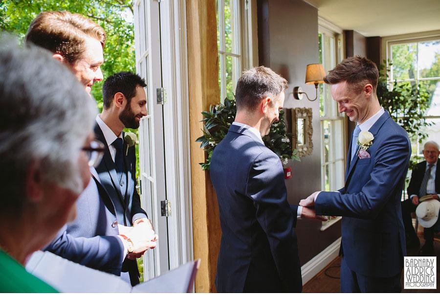 Yorebridge House Gay Wedding Photography by Yorkshire Wedding Photographer Barnaby Aldrick 039