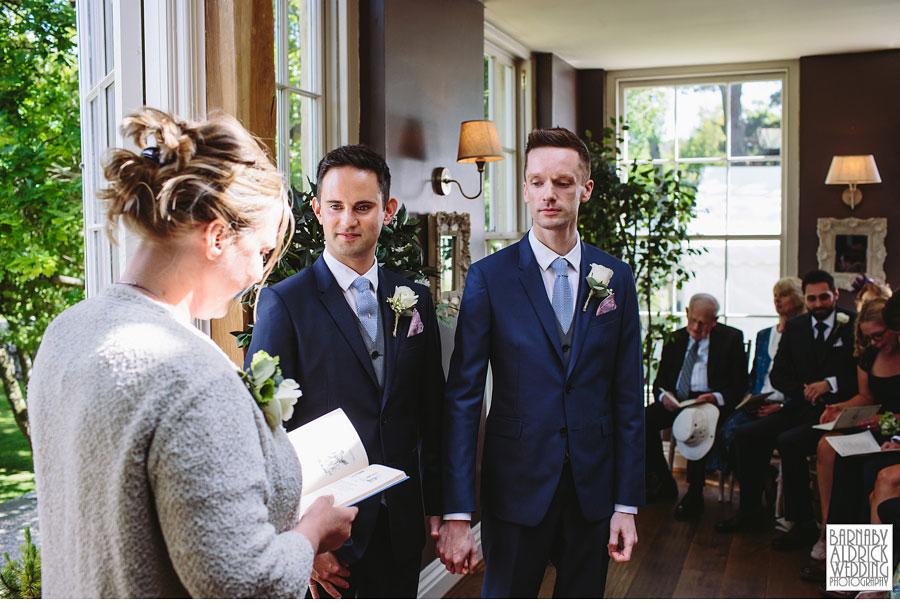 Yorebridge House Gay Wedding Photography by Yorkshire Wedding Photographer Barnaby Aldrick 041