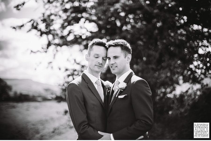 Yorebridge House Gay Wedding Photography by Yorkshire Wedding Photographer Barnaby Aldrick 062