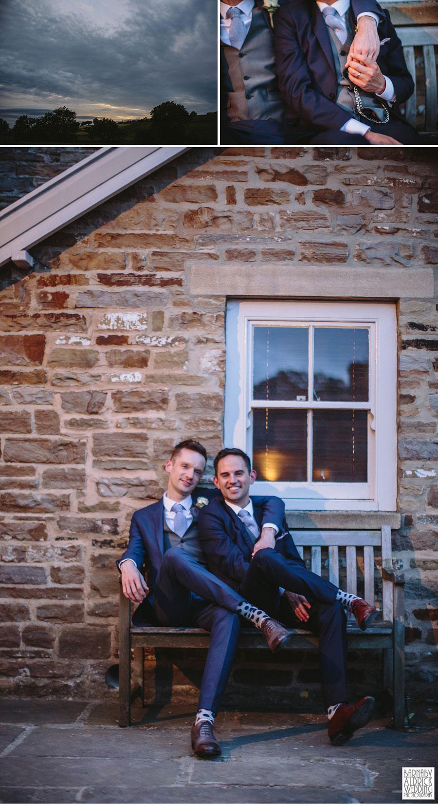 Yorebridge House Gay Wedding Photography by Yorkshire Wedding Photographer Barnaby Aldrick 077