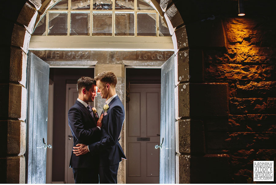 Yorebridge House Gay Wedding Photography by Yorkshire Wedding Photographer Barnaby Aldrick 079