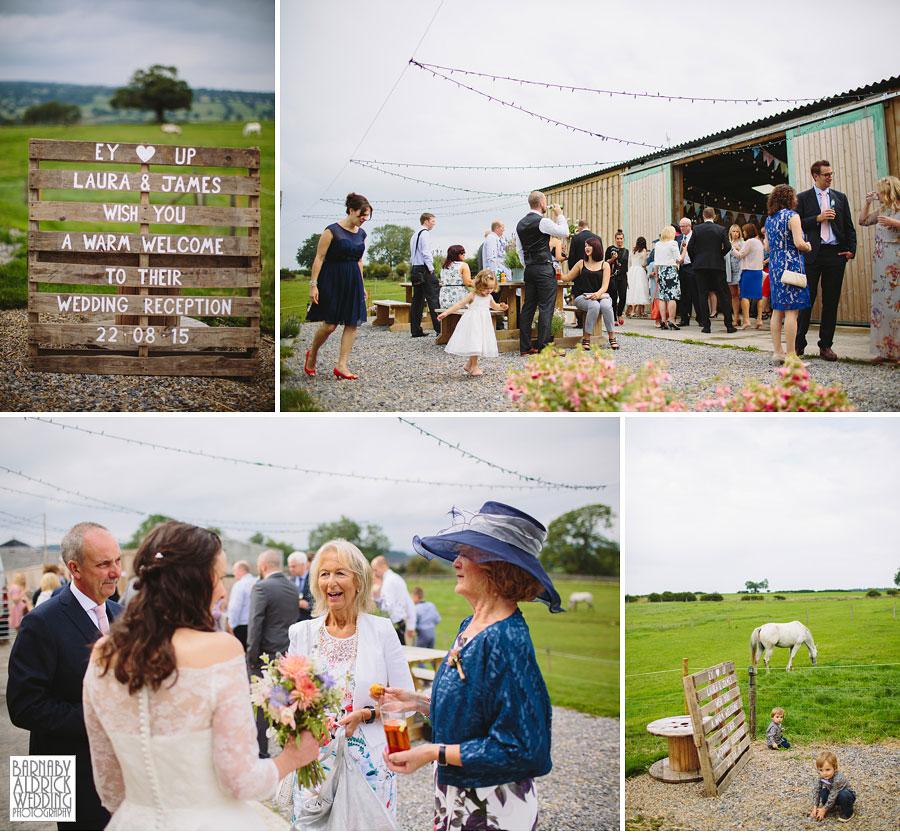 Hill Top Farm Masham Yorkshire Dales Barn Wedding Photography 036