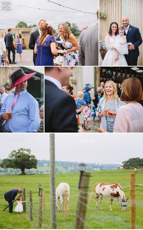 Hill Top Farm Masham Yorkshire Dales Barn Wedding Photography 037