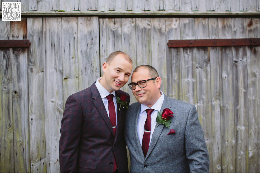 Gay Wedding at The Black Swan in Helmsley by Barnaby Aldrick