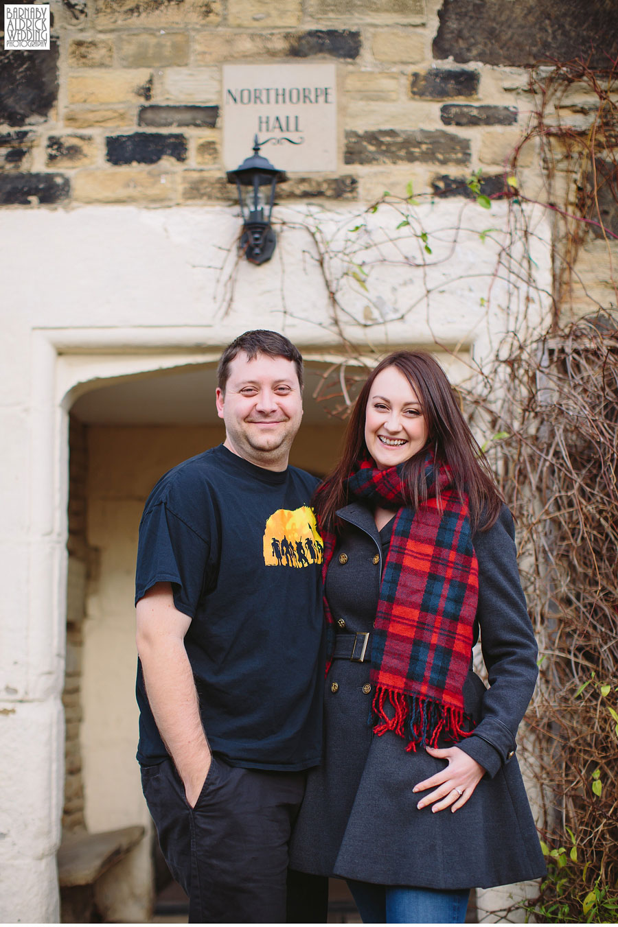 Pre-wedding photography at Northorpe Hall in Mirfield