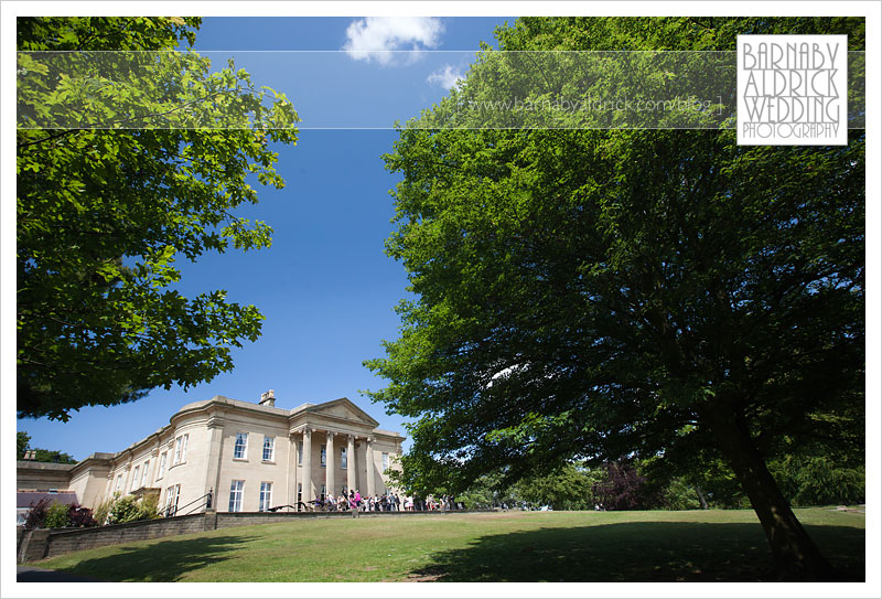 Wedding Photo at the Mansion in Roundhay Park in Leeds
