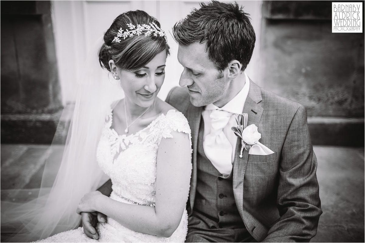 Wedding Photograph of a couple at Middleton Lodge near Richmond North Yorkshire