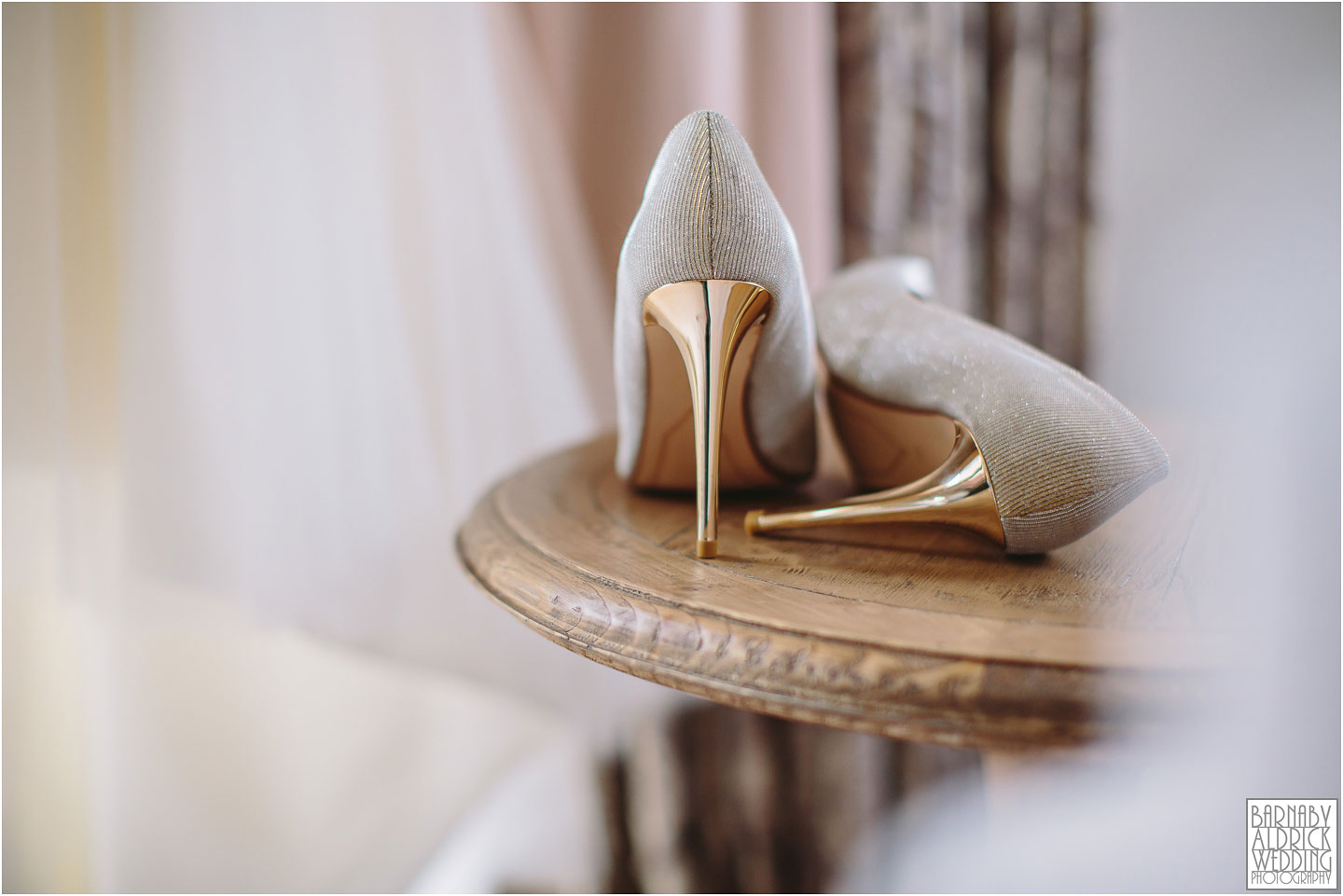 Wedding Shoes at Priory Cottages in Yorkshire