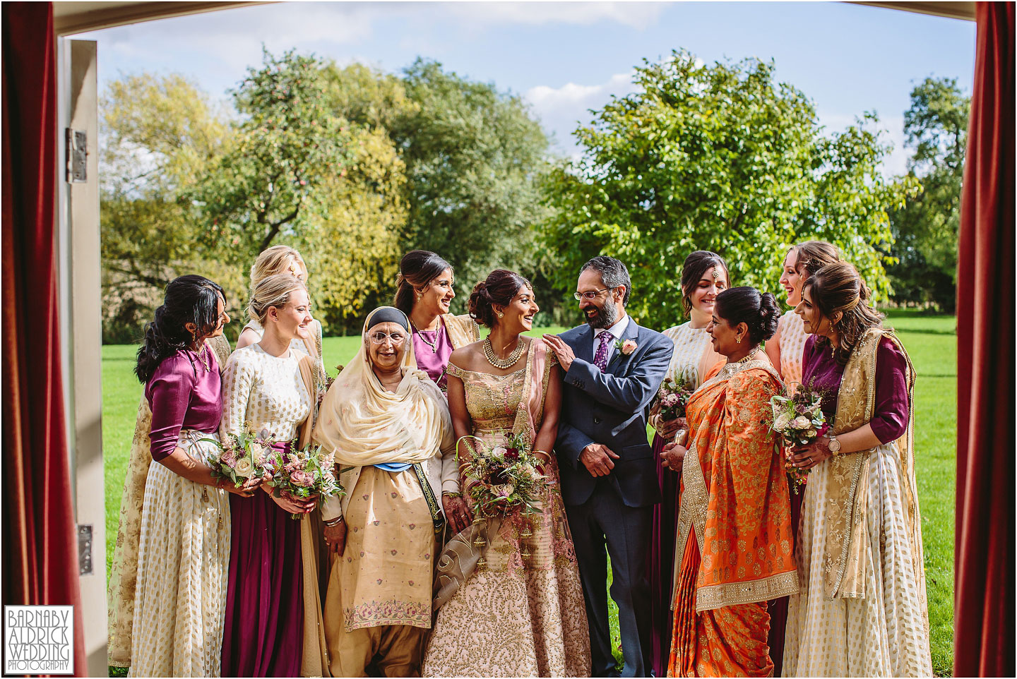 Indian Wedding Photography at Priory Cottages near Wetherby Yorkshire