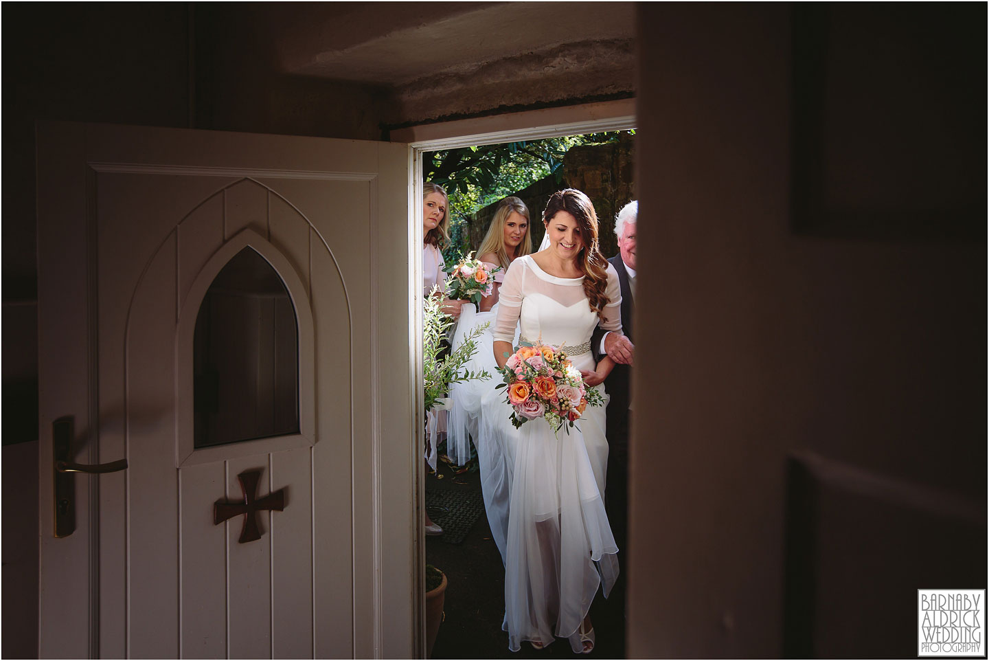 Bridal entrance wedding photograph