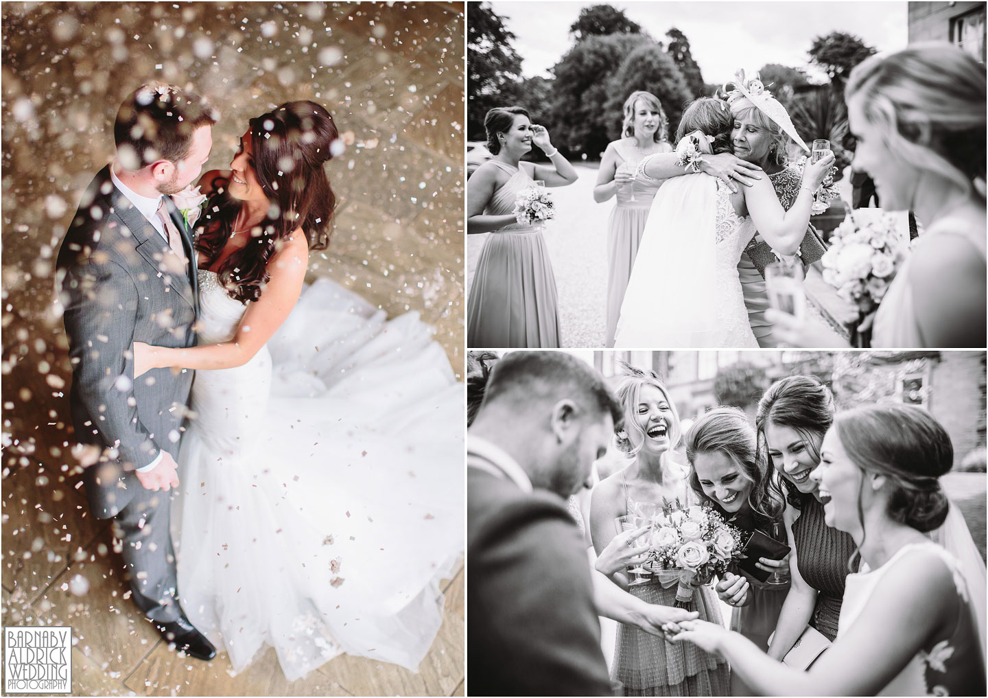 Wedding Confetti Photographs, Priory Cottages Yorkshire