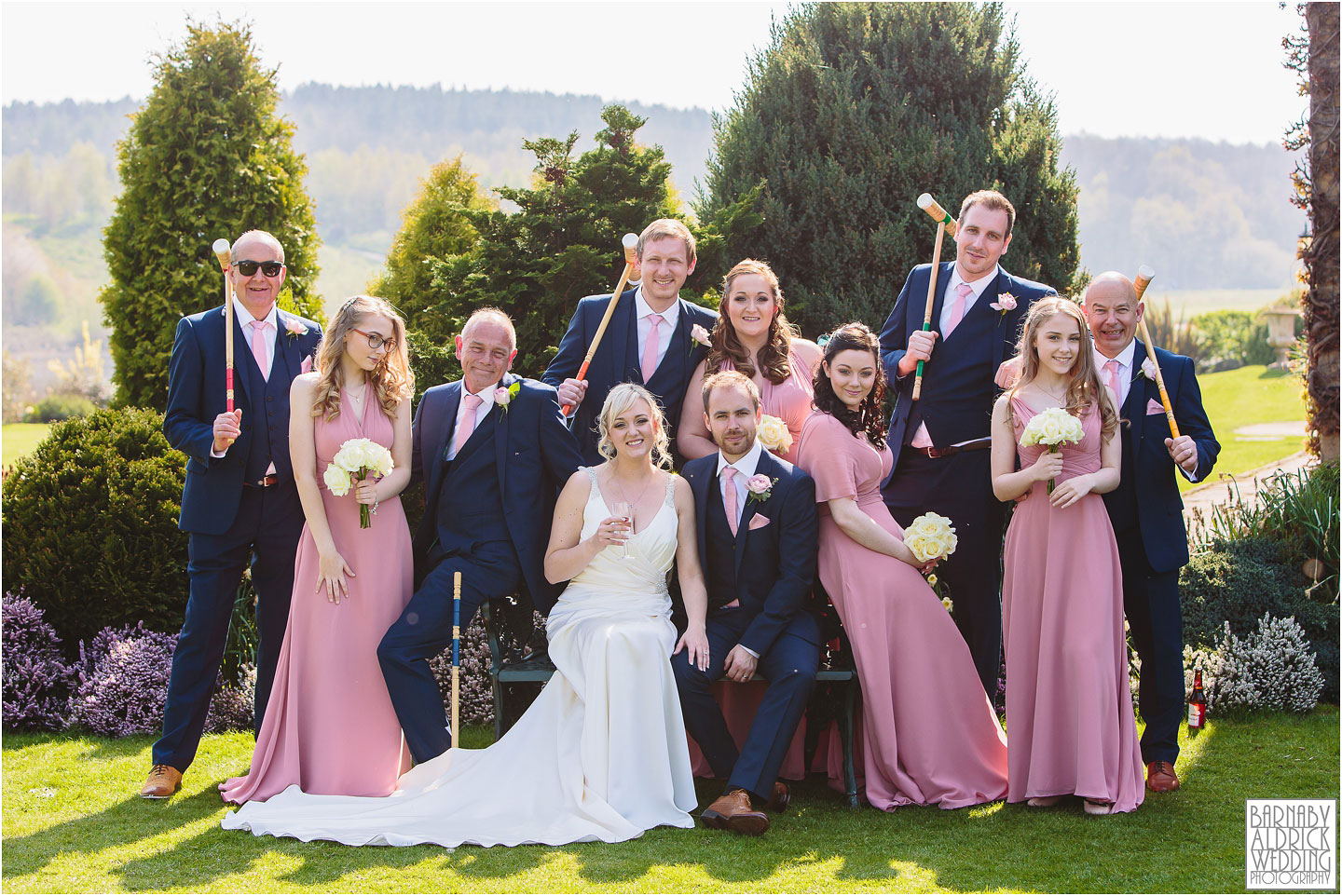 Amazing Wedding groupshot, Waterton Park Wedding Photography