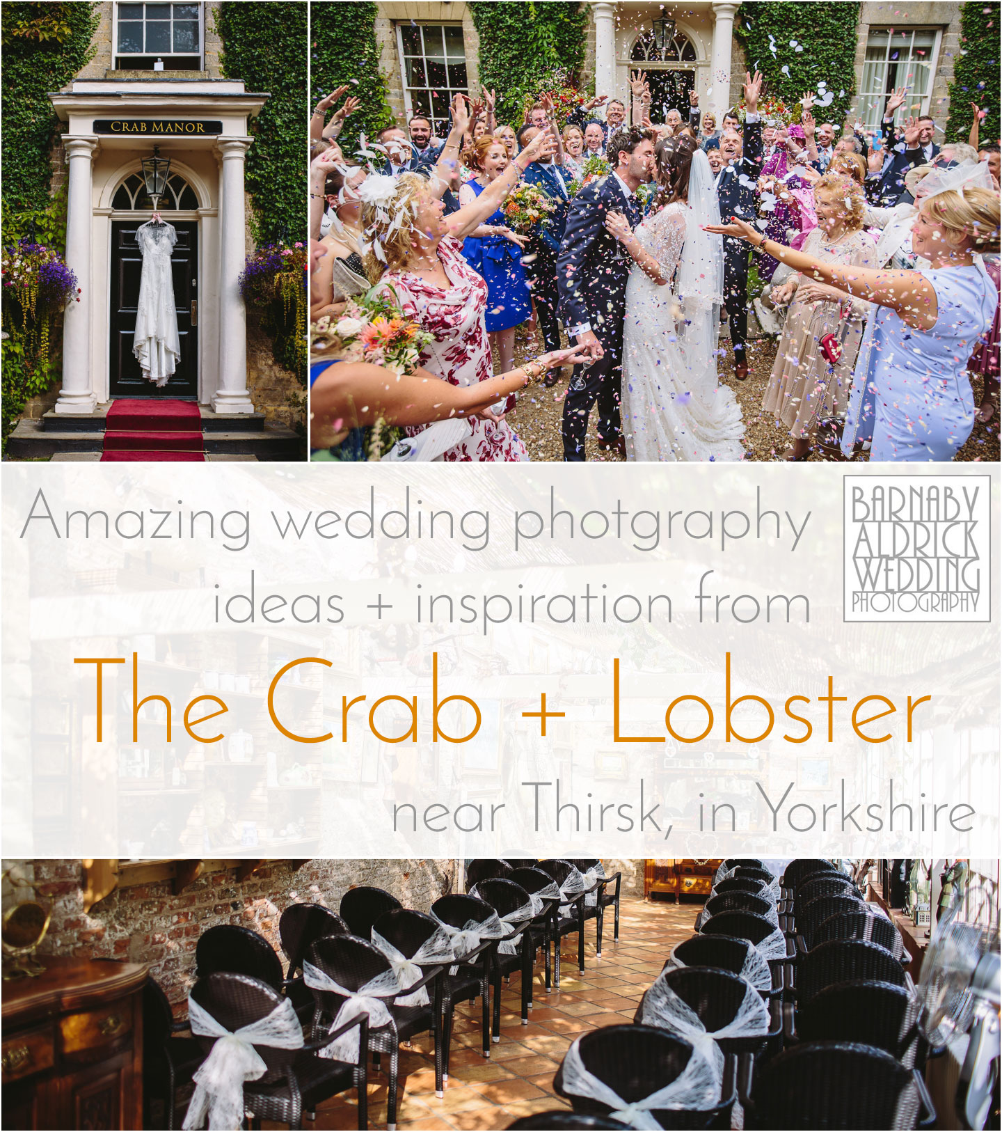 Amazing wedding photography ideas and inspiration at Crab Manor and the Crab and Lobster