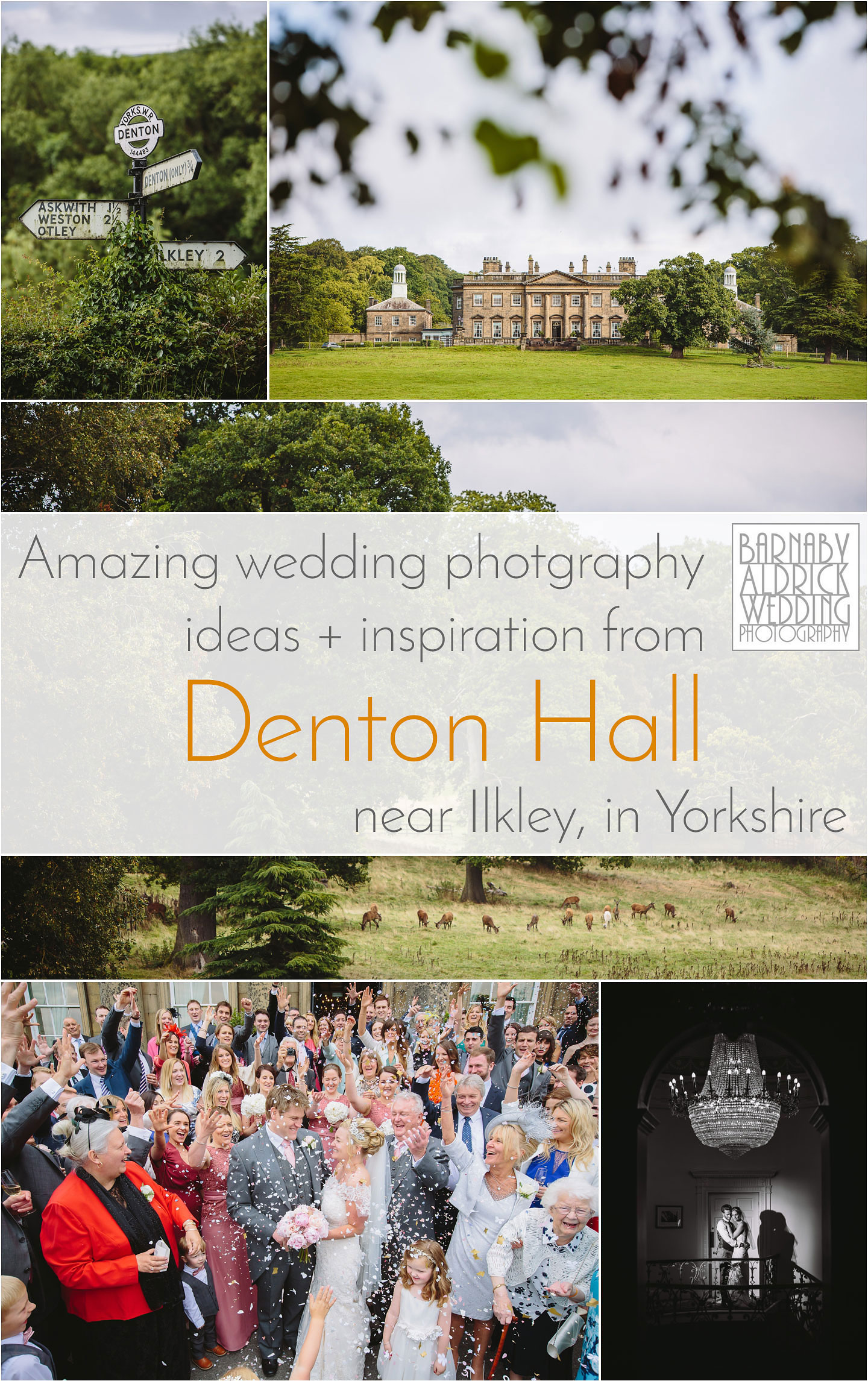 Amazing wedding photography ideas and inspiration at Denton Hall near Ilkley in Wharfedale in Yorkshire
