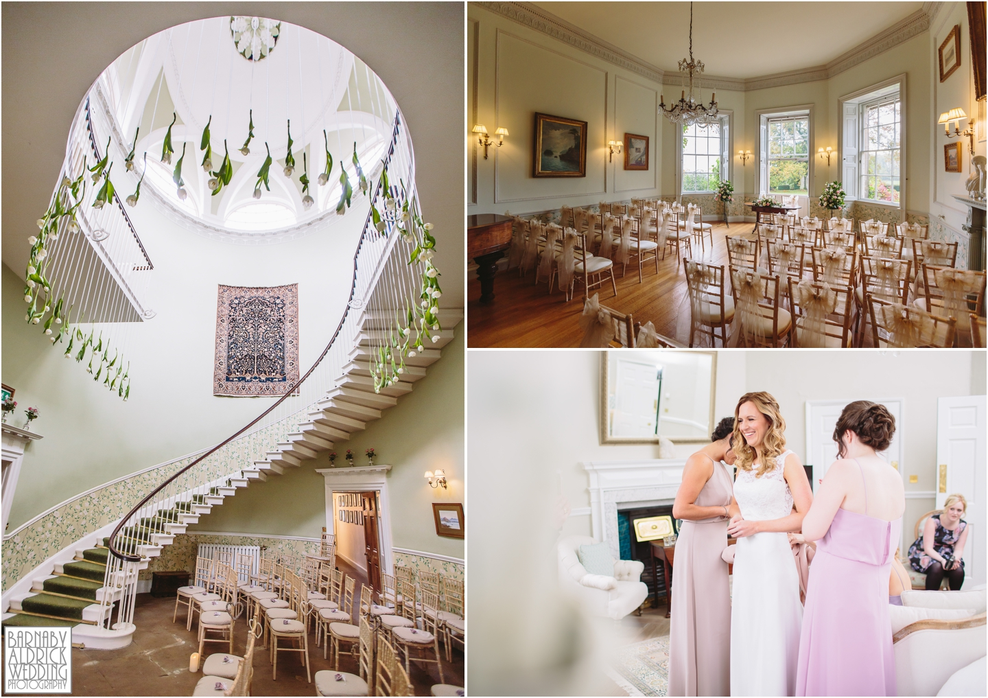The wedding ceremony rooms at Middleton Lodge