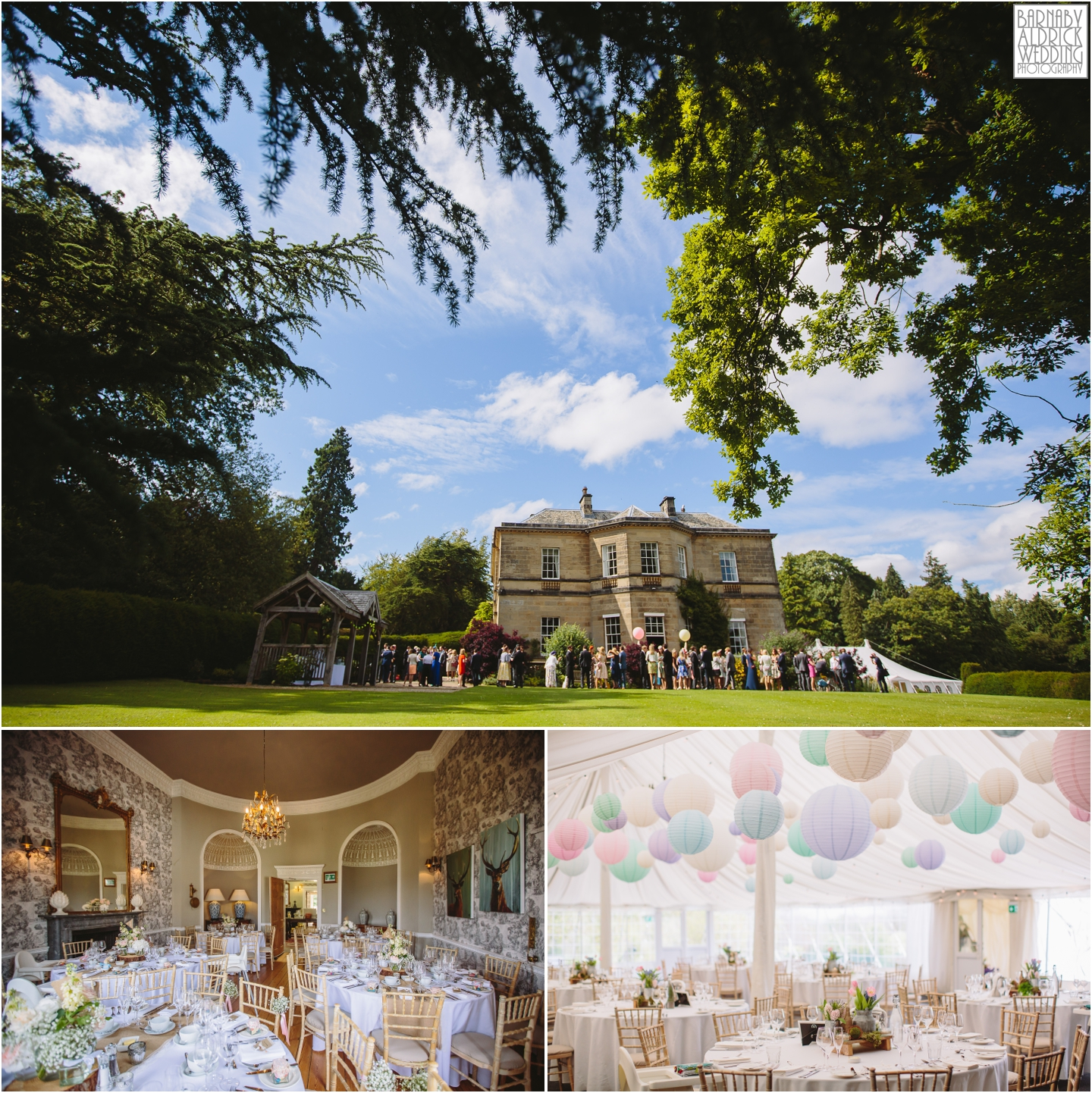 The setting of a lovely country house wedding breakfast at Middleton Lodge