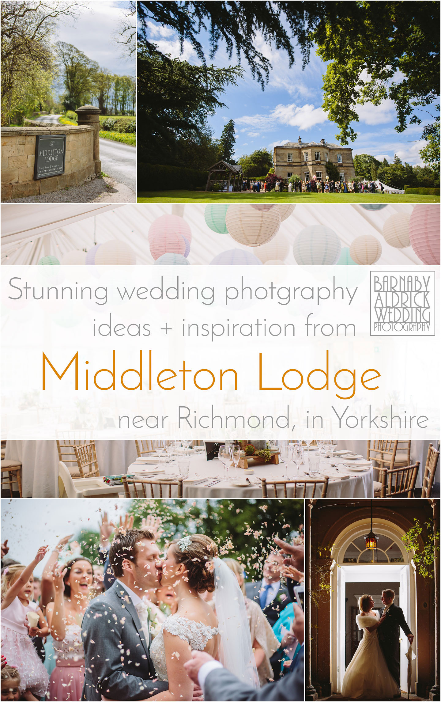 Wedding Photography ideas and inspiration from Middleton Lodge near Richmond in North Yorkshire
