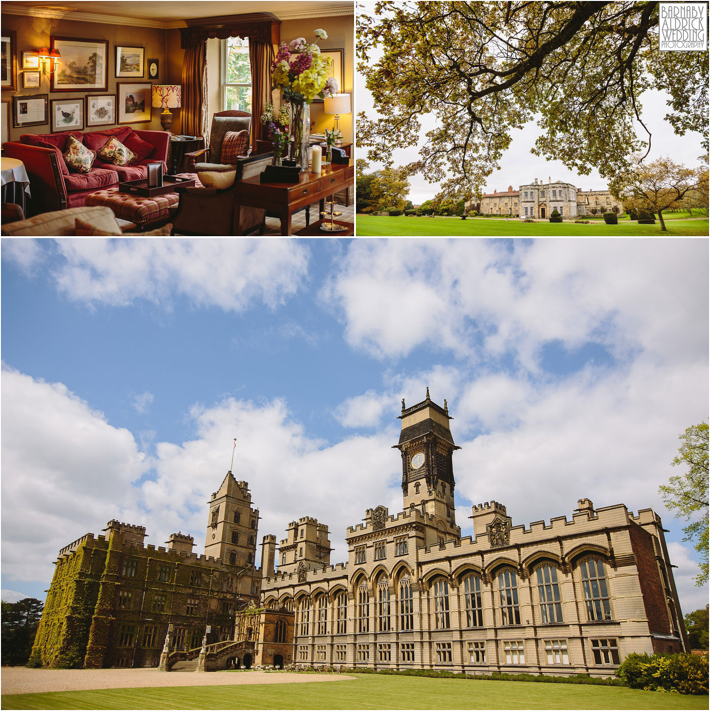 Into the North York Moors an amazing wedding venues include Newburgh Priory and in and East Yorkshire is Carlton Towers