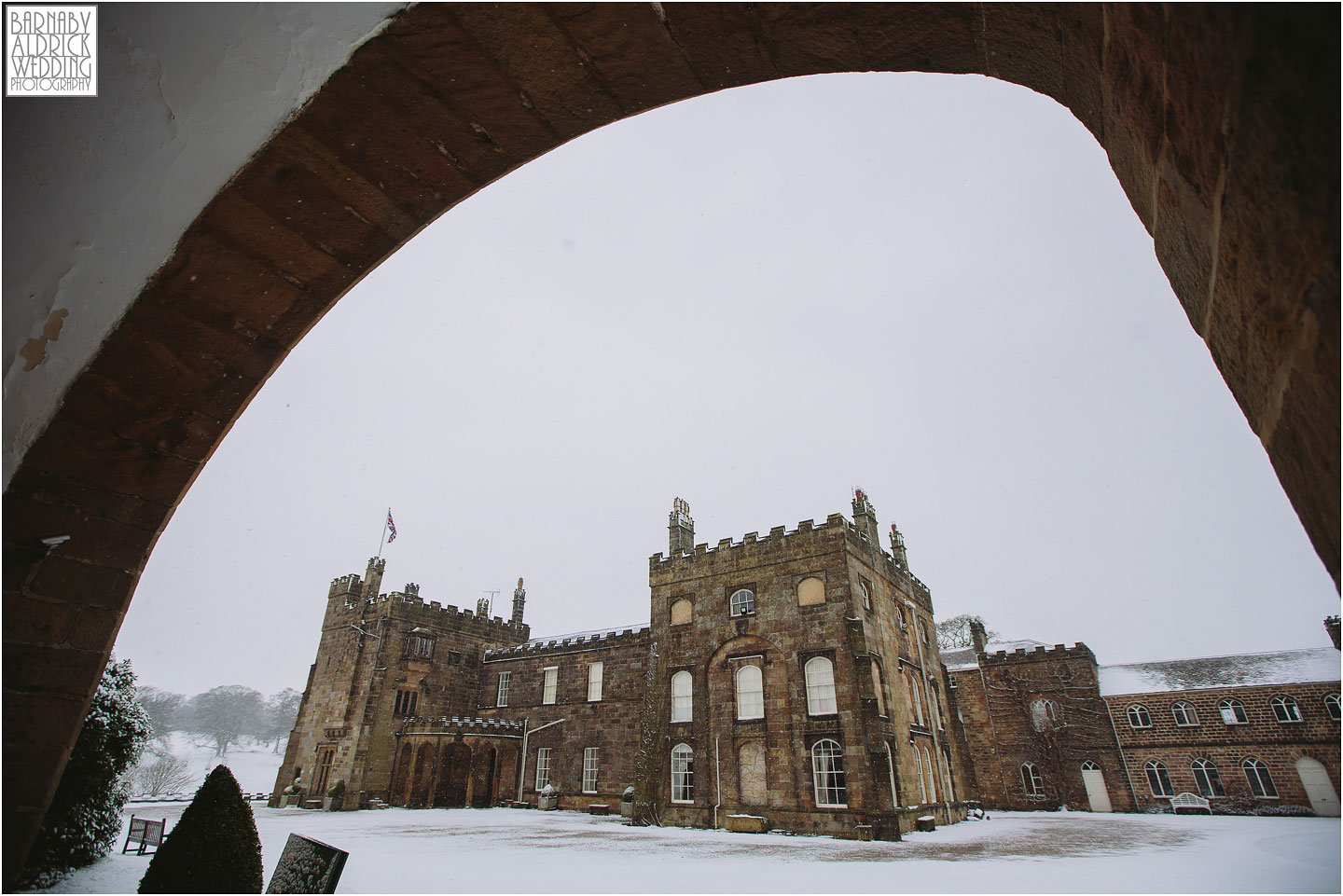 A photograph of one of Yorkshires loveliest wedding venues Ripley Castle north of Harrogate