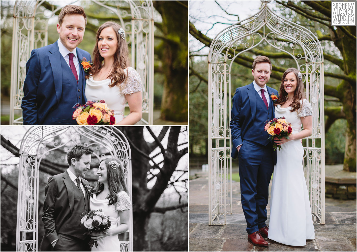 Wedding couple portraits at Crow Hill a Marsden West Yorkshire Country House by Photographer Barnaby Aldrick