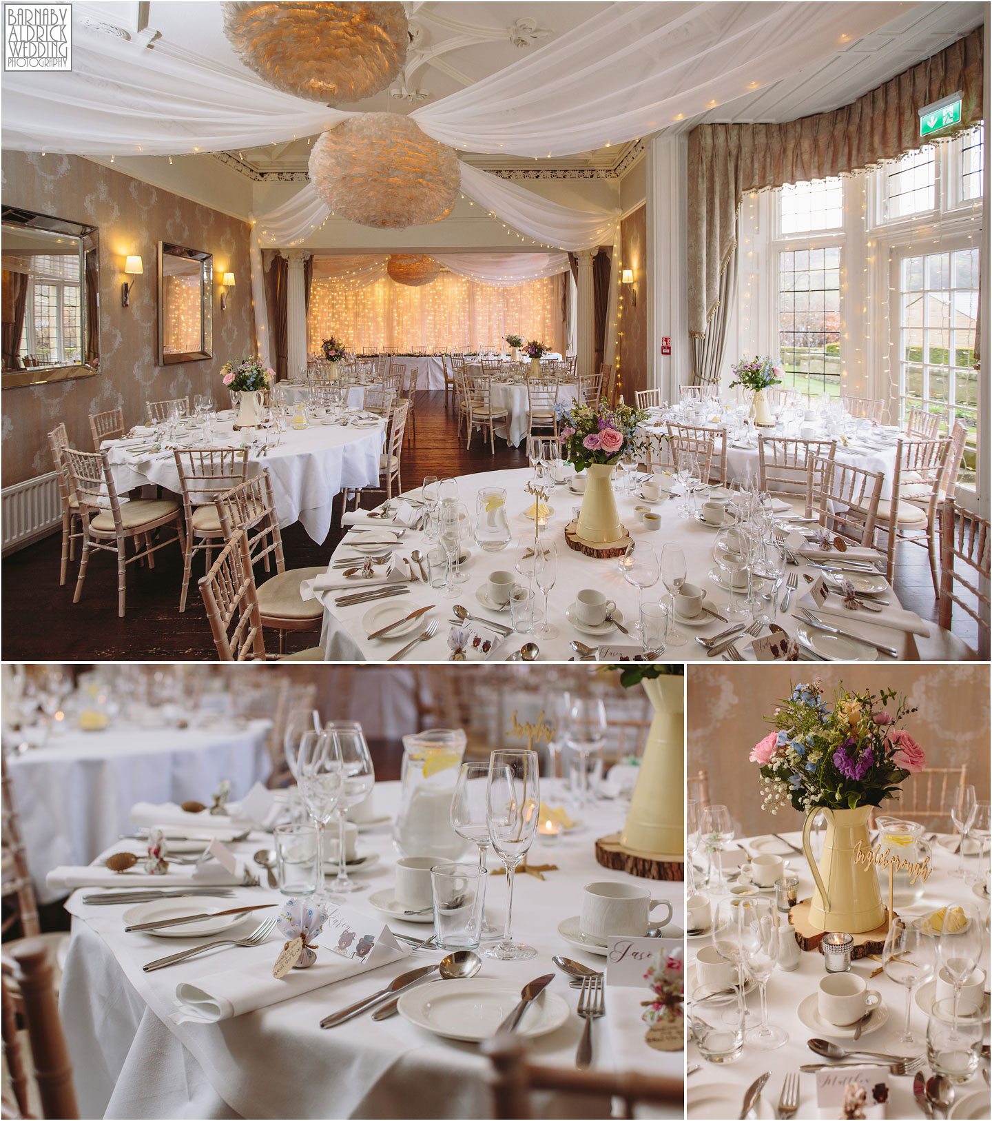 Falcon Manor Settle wedding breakfast room
