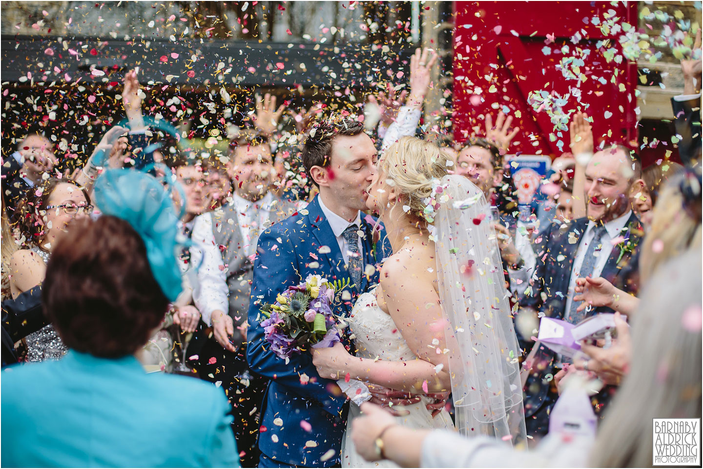 Wedding Confetti at Standedge Tunnel and Visitor Centre in Marsden