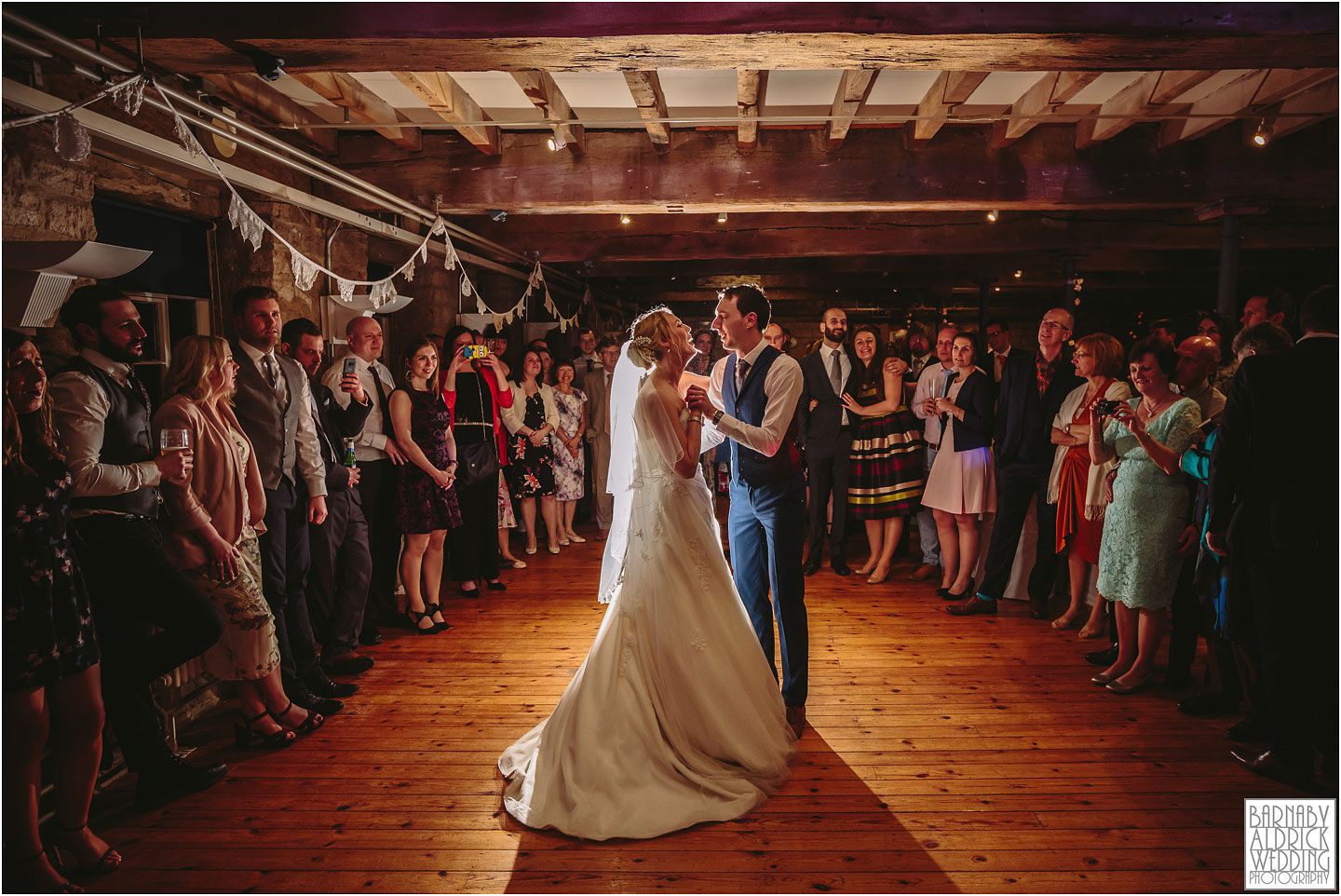 First dance at a wedding at Standedge Tunnel and Visitor Centre in Marsden