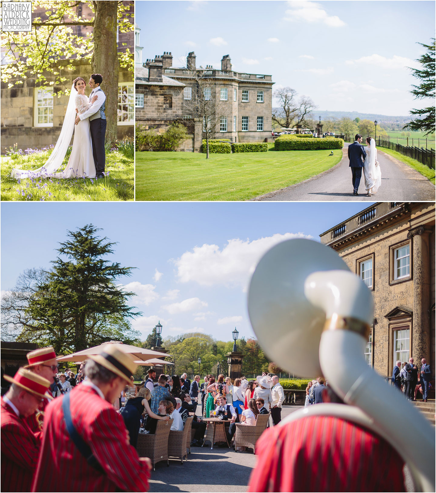Afternoon reception photos at Denton Hall Ikley, West Yorkshire Exclusive Wedding Venue, Wedding photos by Barnaby Aldrick