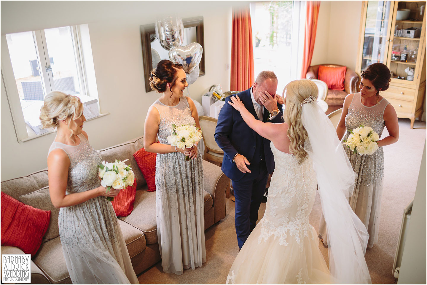 An emotional moment at Priory Cottages Wetherby