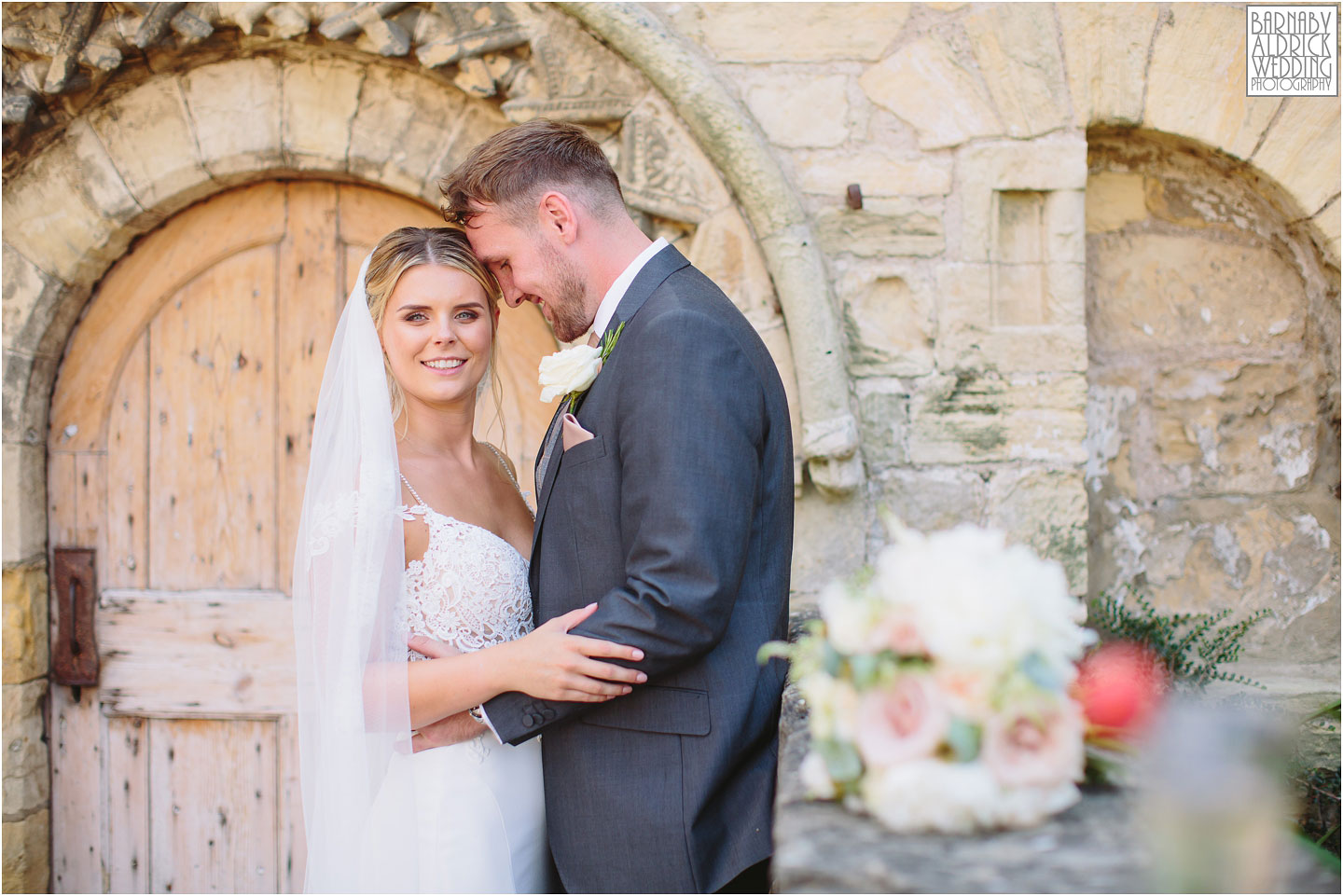 Wedding photography portraits at Priory Cottages near Wetherby in Yorkshire