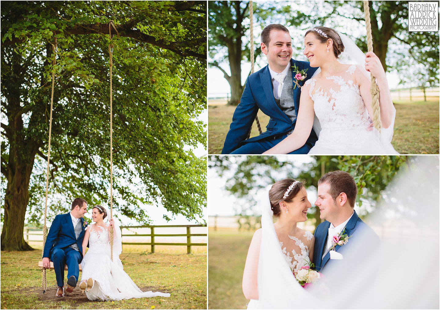 Couple portraits at Barmbyfields Barn wedding venue near York