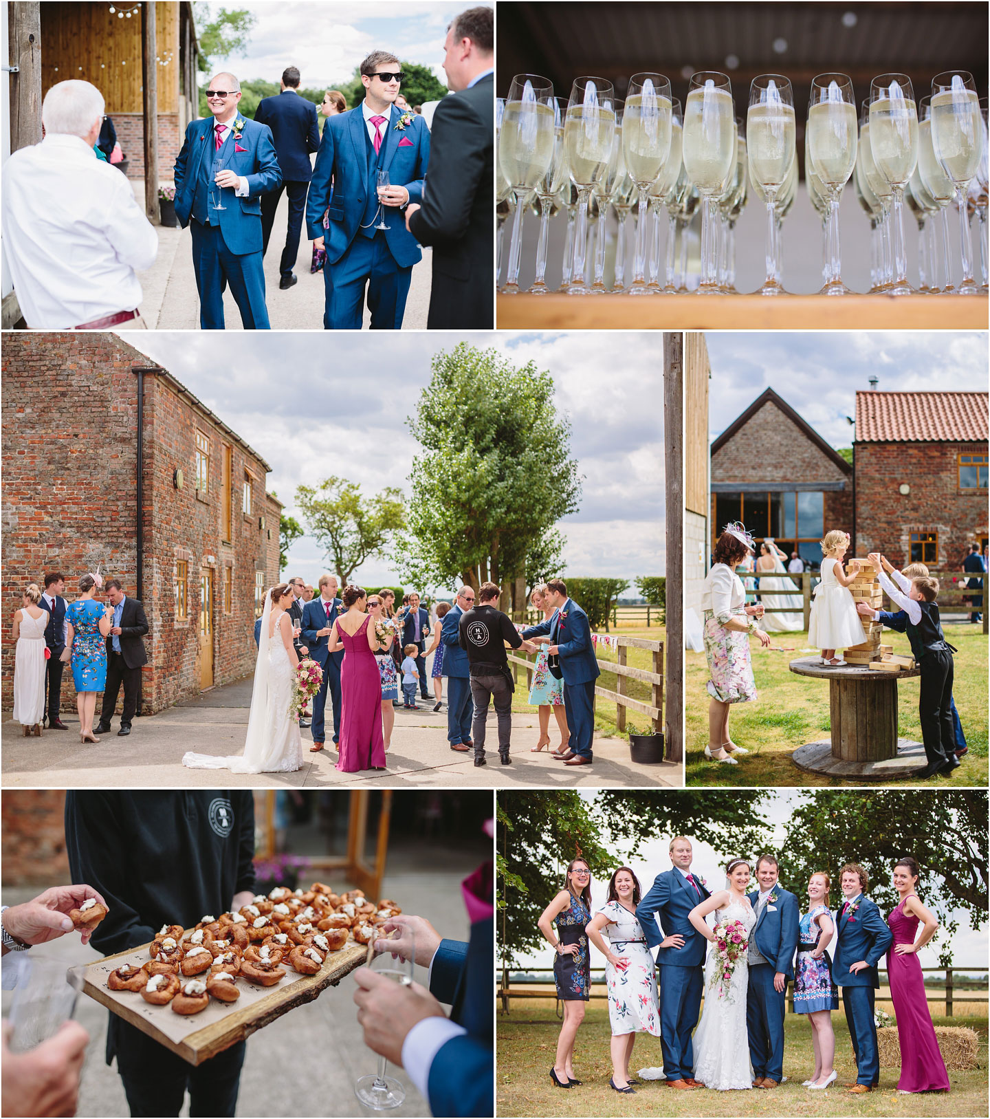 Barmbyfields Barn wedding reception images near York