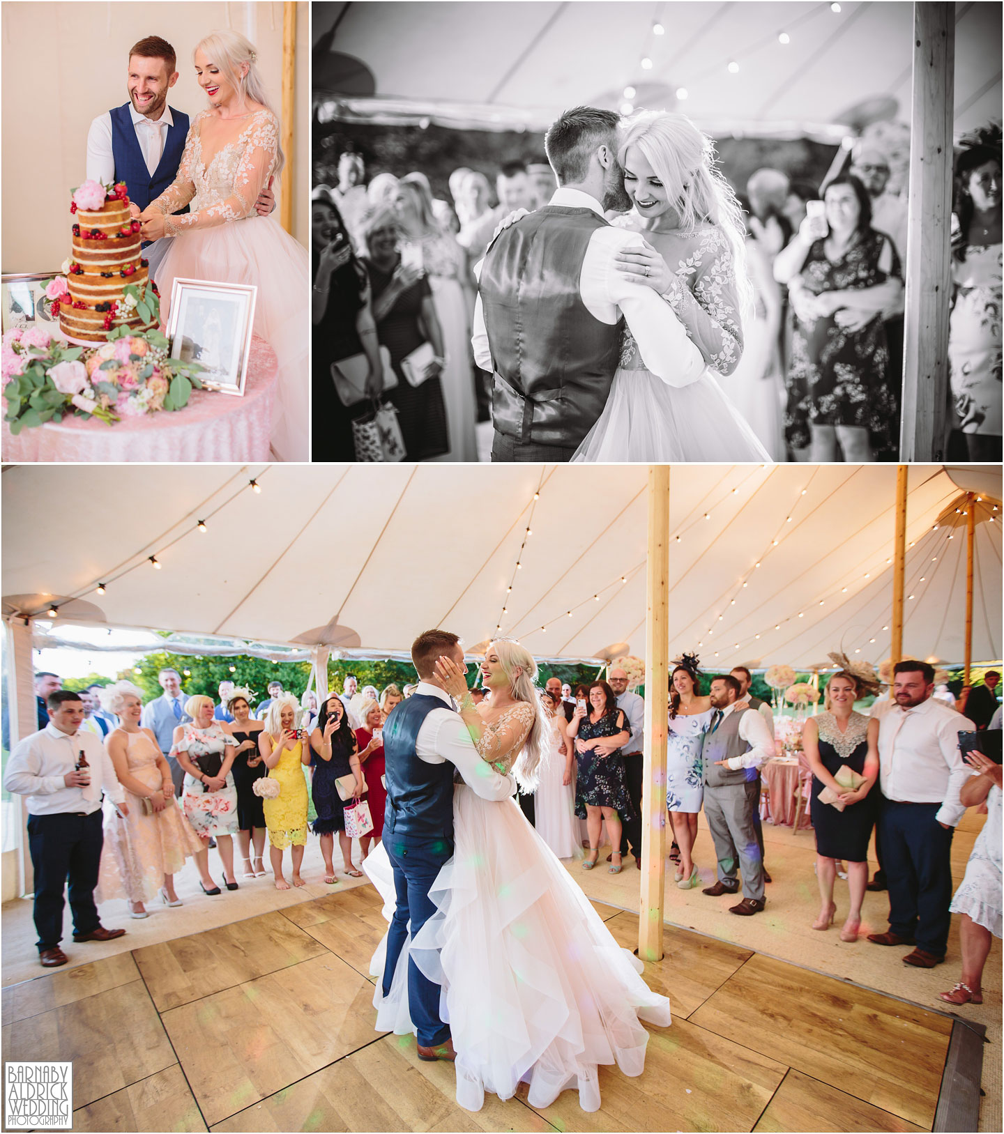 PapaKata Sperry Tent first dance at Saltmarshe Hall, Wedding photography at Saltmarshe Hall, East Yorkshire Wedding Photos