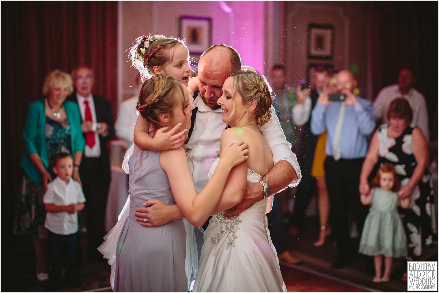 Wood Hall Hotel Wetherby family first dance photograph, Wood Hall Wedding Photos, Wood Hall Wedding Photographer