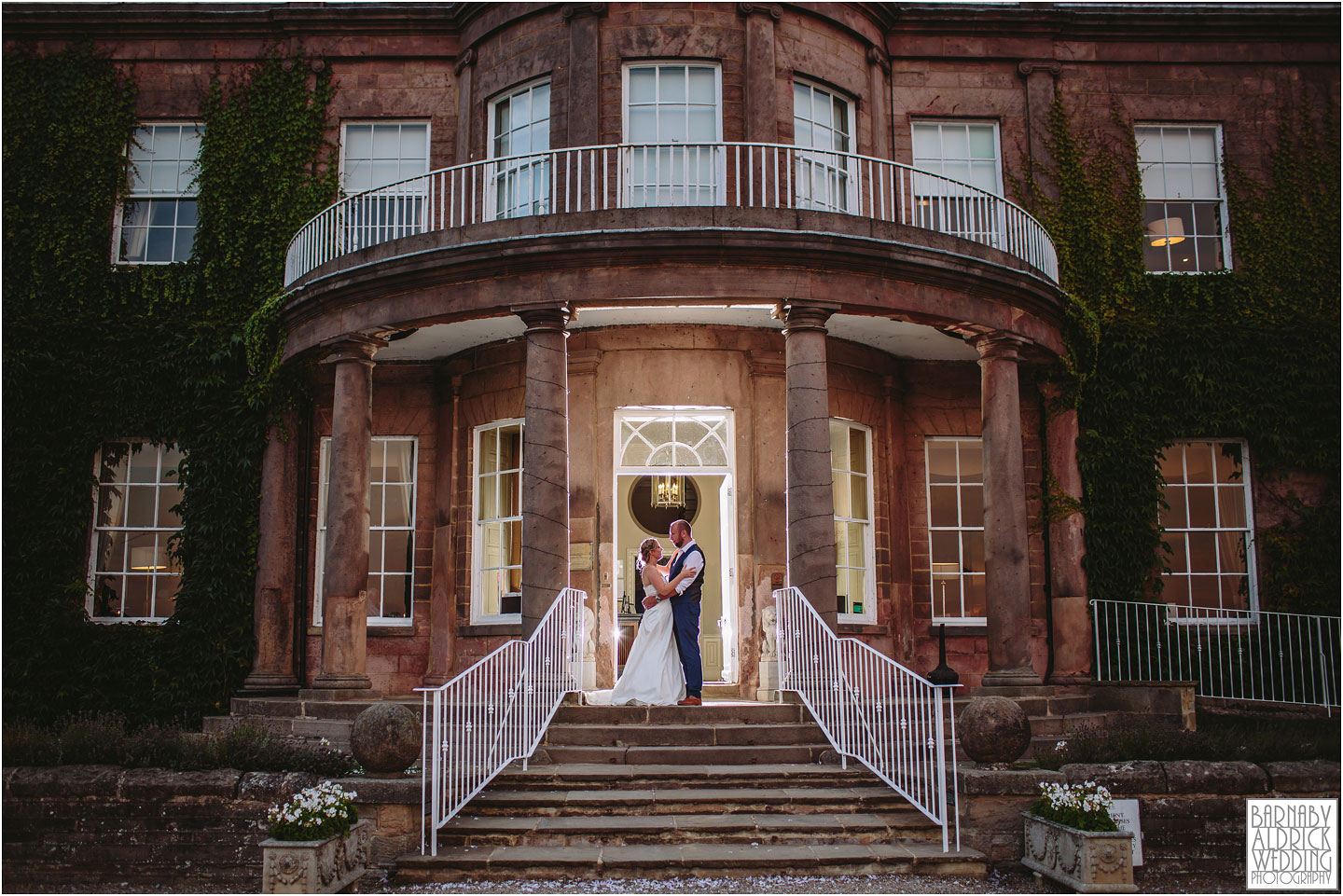 An evening flash portrait at Wood Hall Hotel in Wetherby