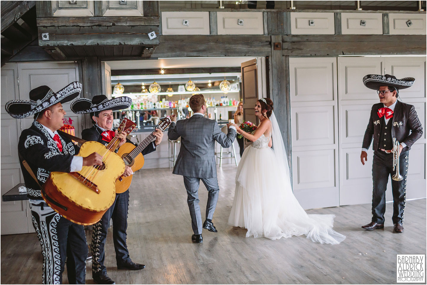 Yorkshire Mexican Mariachi band at Yorkshire Wedding Barn near Richmond