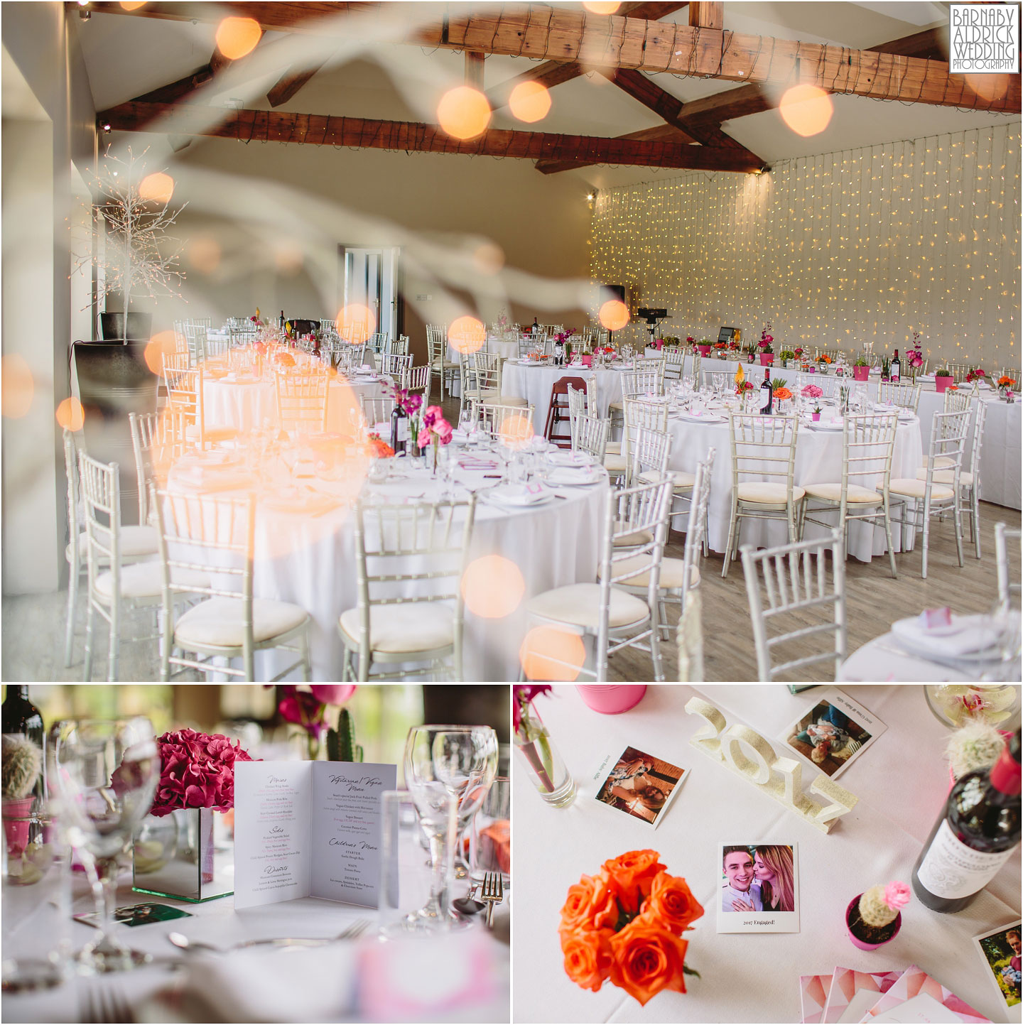 The Wedding Breakfast ideas at Yorkshire Wedding Barn near Richmond