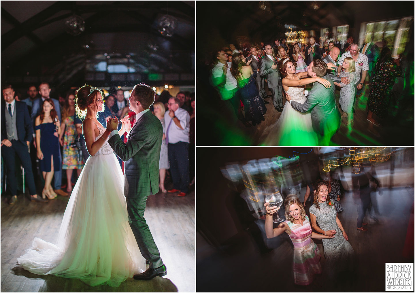 First Dance and dancing at Yorkshire Wedding Barn near Richmond