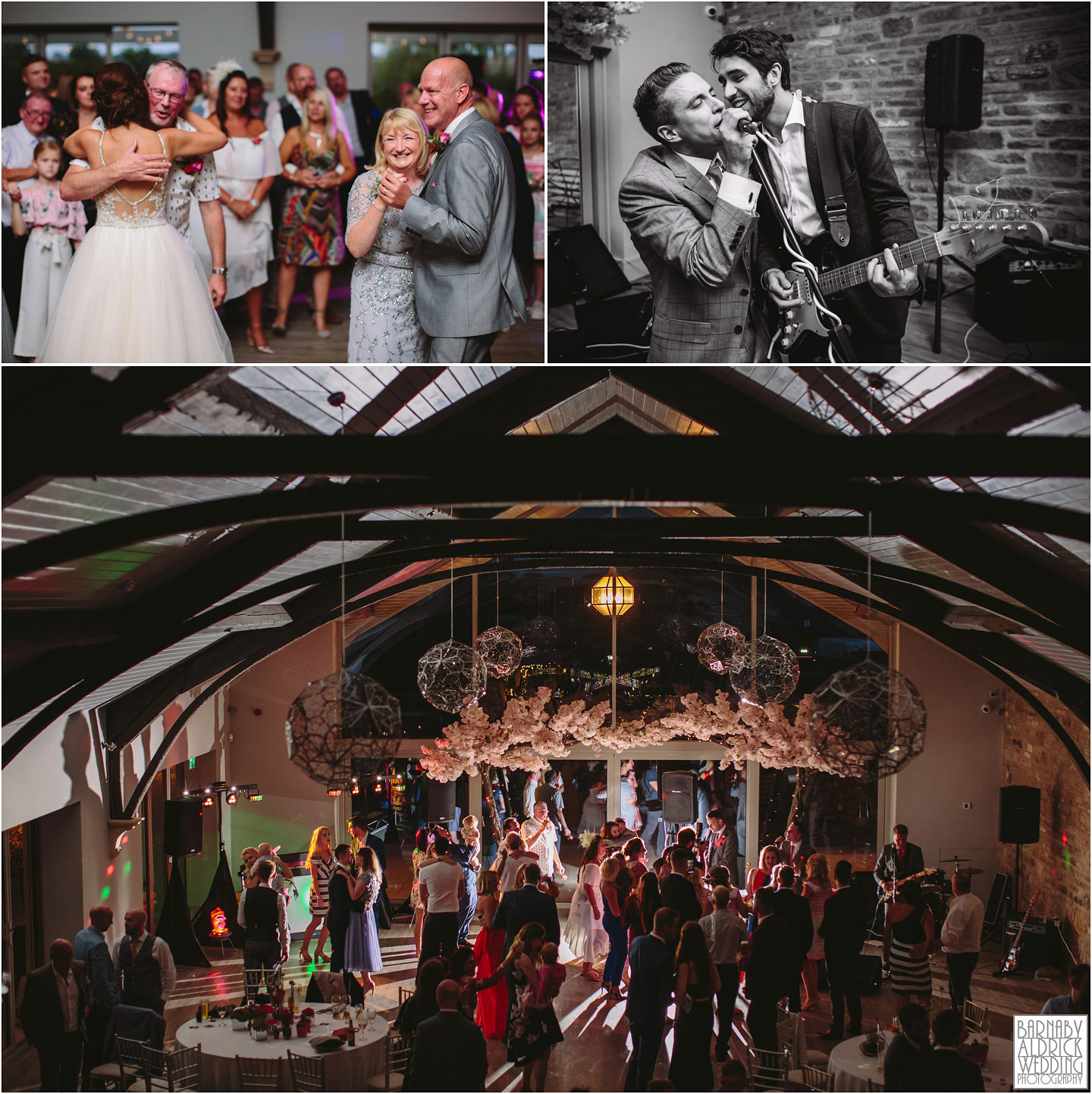 Evening function band and dancing at Yorkshire Wedding Barn near Richmond