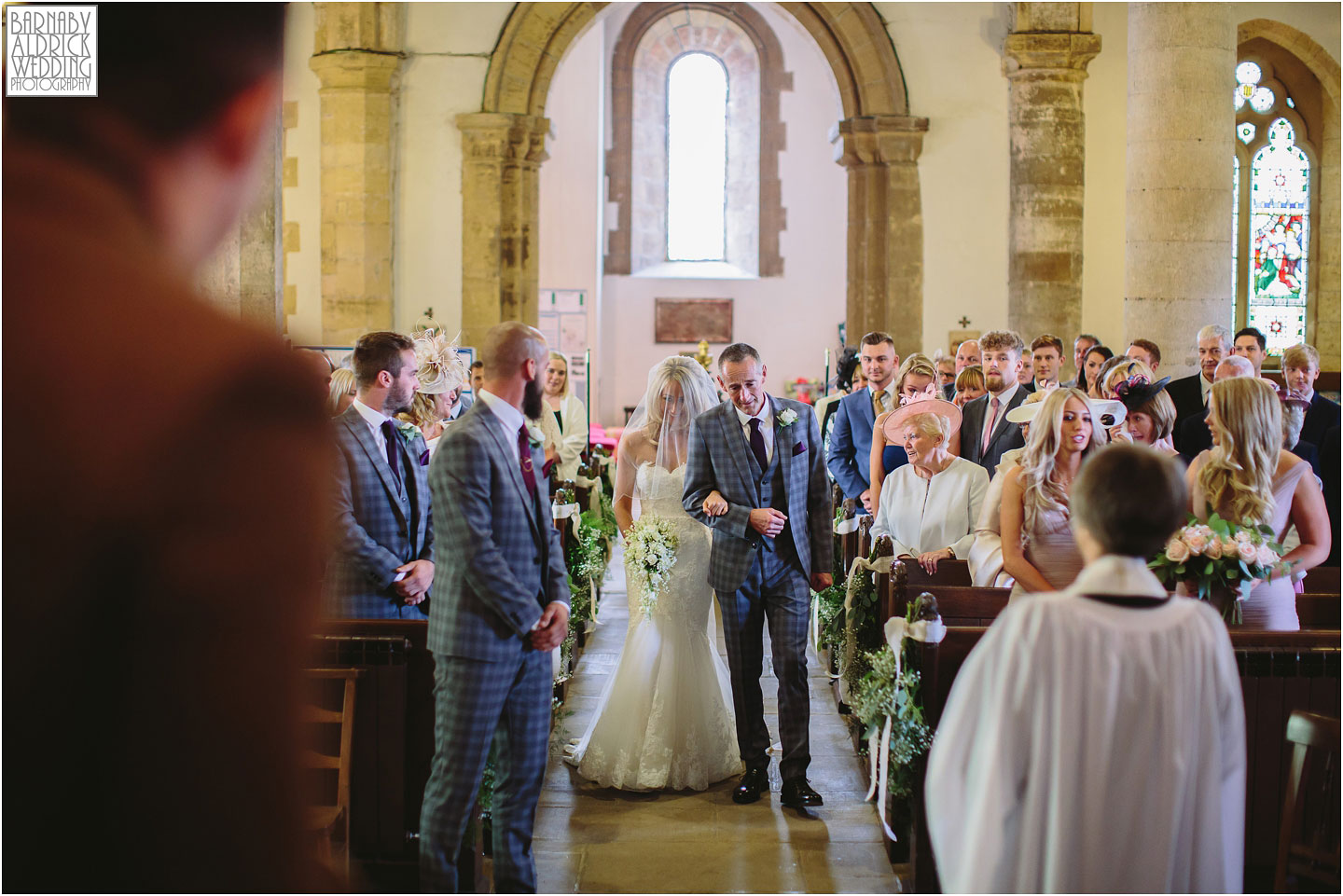 Wedding ceremony at All Saints Church in Bramham